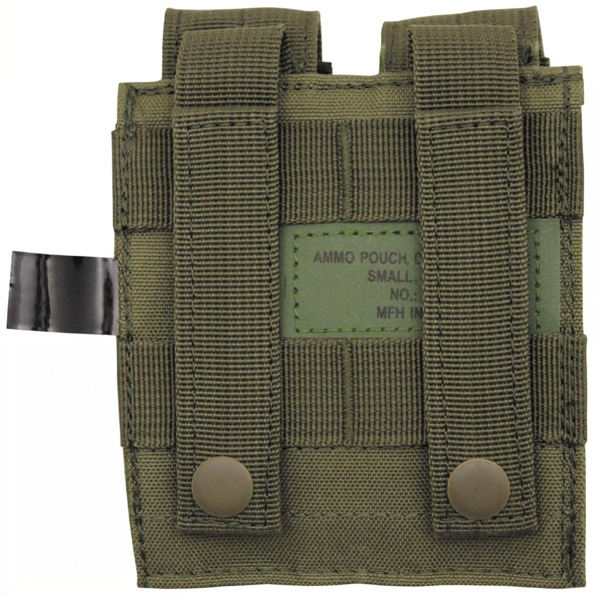 Pouzdro na pistolové zásobníky Molle - olivové
