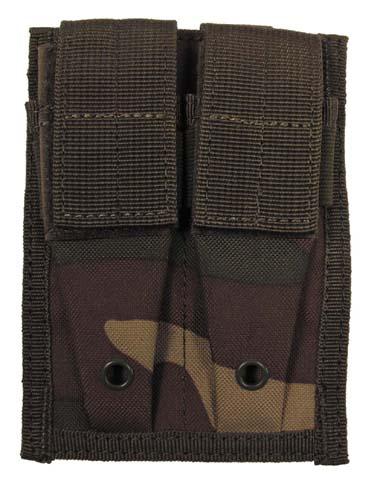 Pouzdro na pistolové zásobníky Molle - woodland