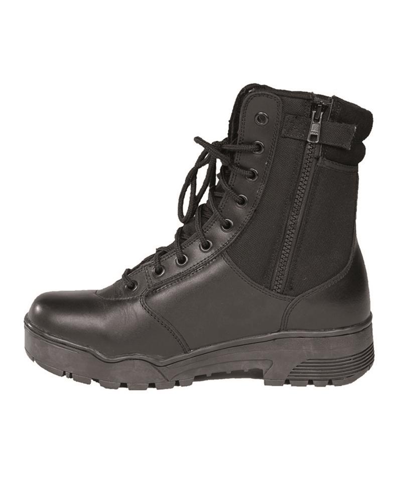 Taktické boty kožené Cordura RV - černé caaf3ff298