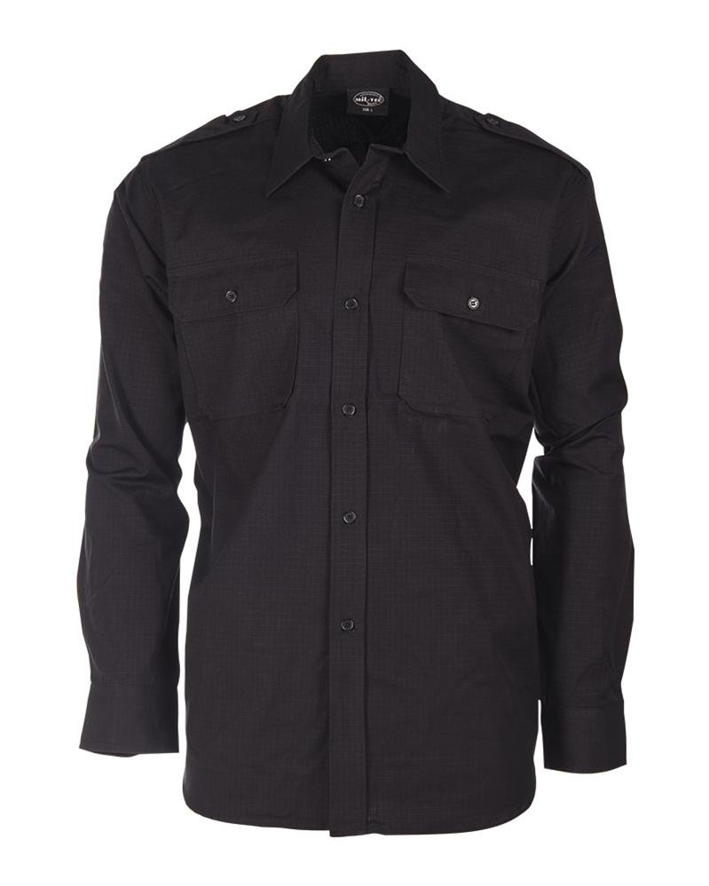Košile Ripstop dlouhý rukáv - černá