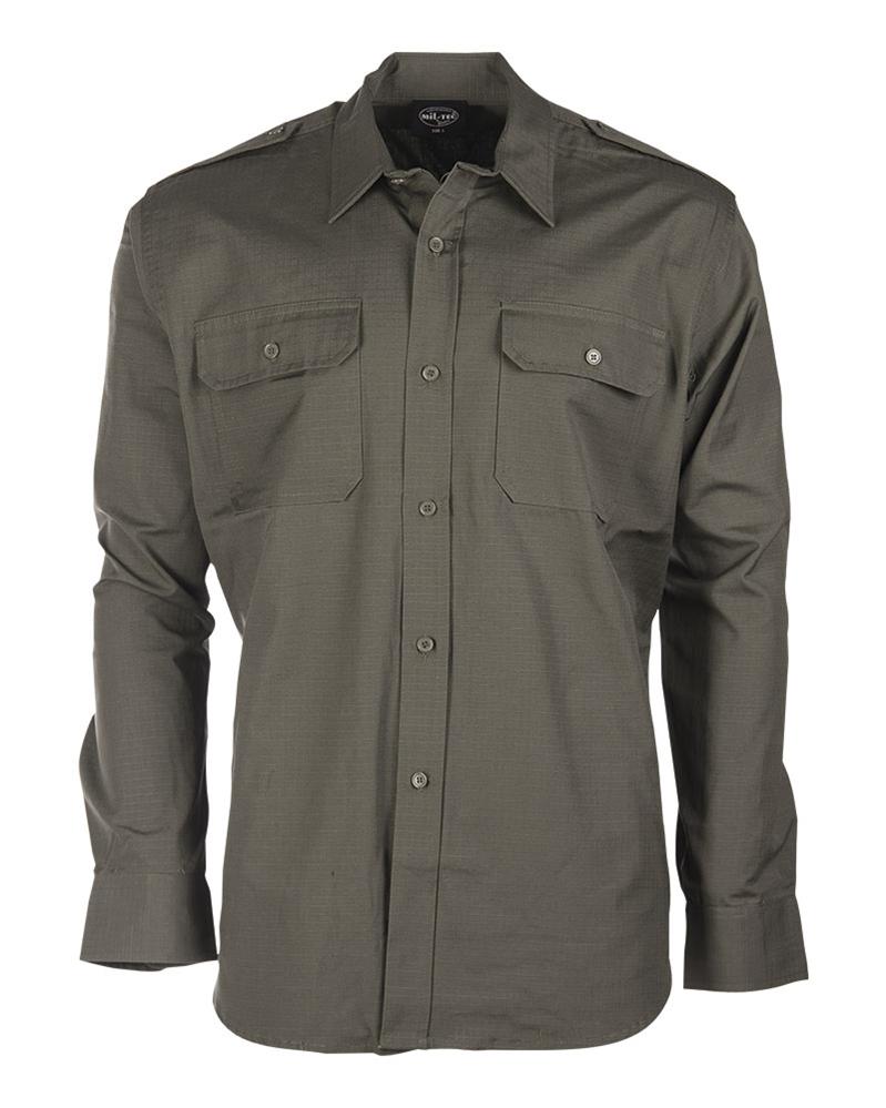 Košile Ripstop dlouhý rukáv - olivová