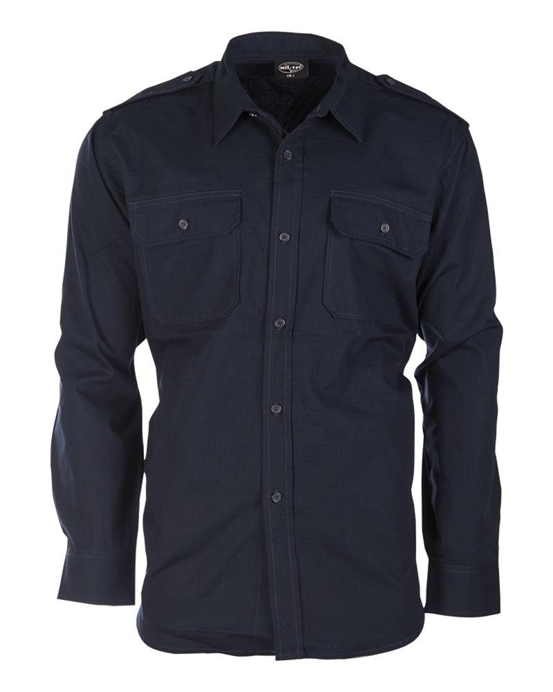 Košile Ripstop dlouhý rukáv - modrá