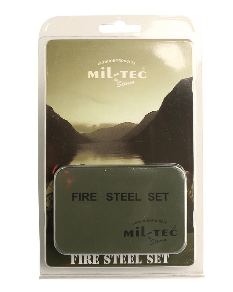 Podpalovací set Fire Steel v plechové krabičce