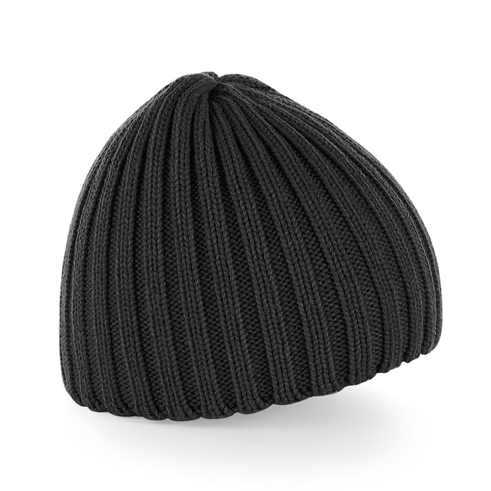 Čepice Beechfield Chunky Knit Beanie - černá bec3abb627