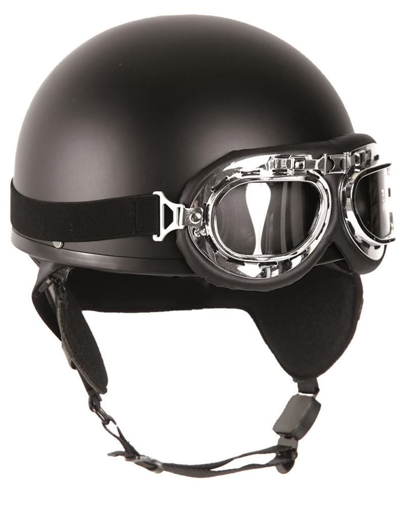 Helma Mil-Tec Moto Retro - černá