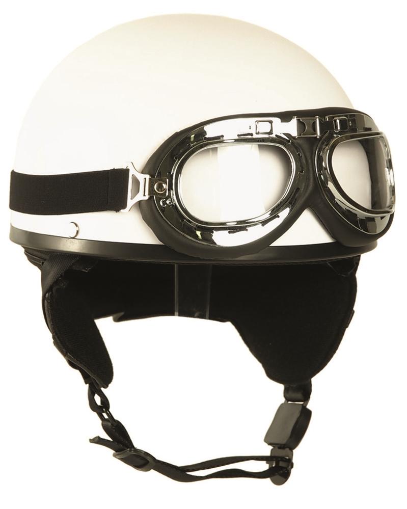 Helma Mil-Tec Moto Retro - bílá