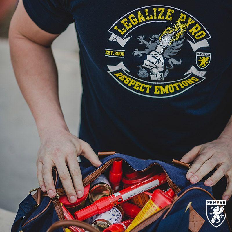 Triko PGwear Legalize Pyro - modré