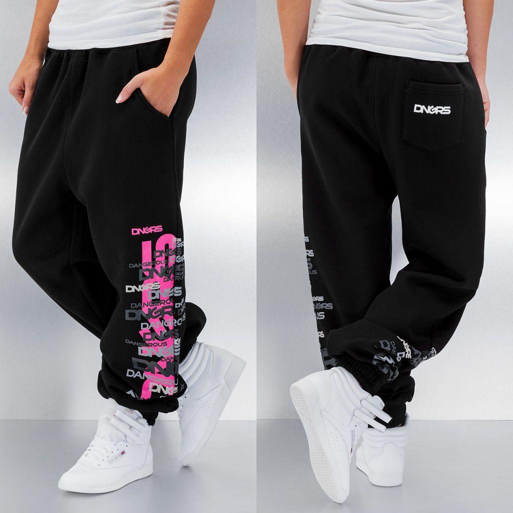 Kalhoty sportovní dámské DNGRS Logo - černé