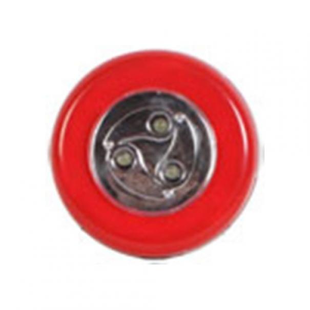 Samolepící lampička 3 LED - červená