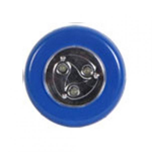 Samolepící lampička 3 LED - modrá