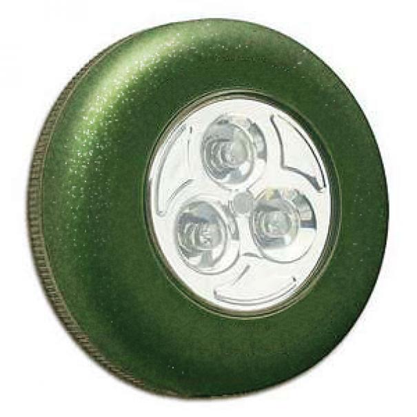 Samolepící lampička 3 LED - zelená