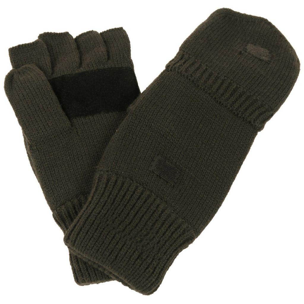 69719bf118f Pletené rukavice bez prstů s podšívkou MFH Strick - olivové