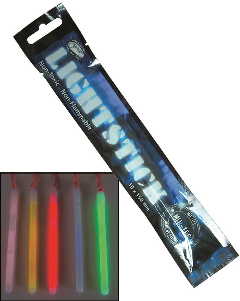 Svítící tyčinka 15x1 cm - modrá