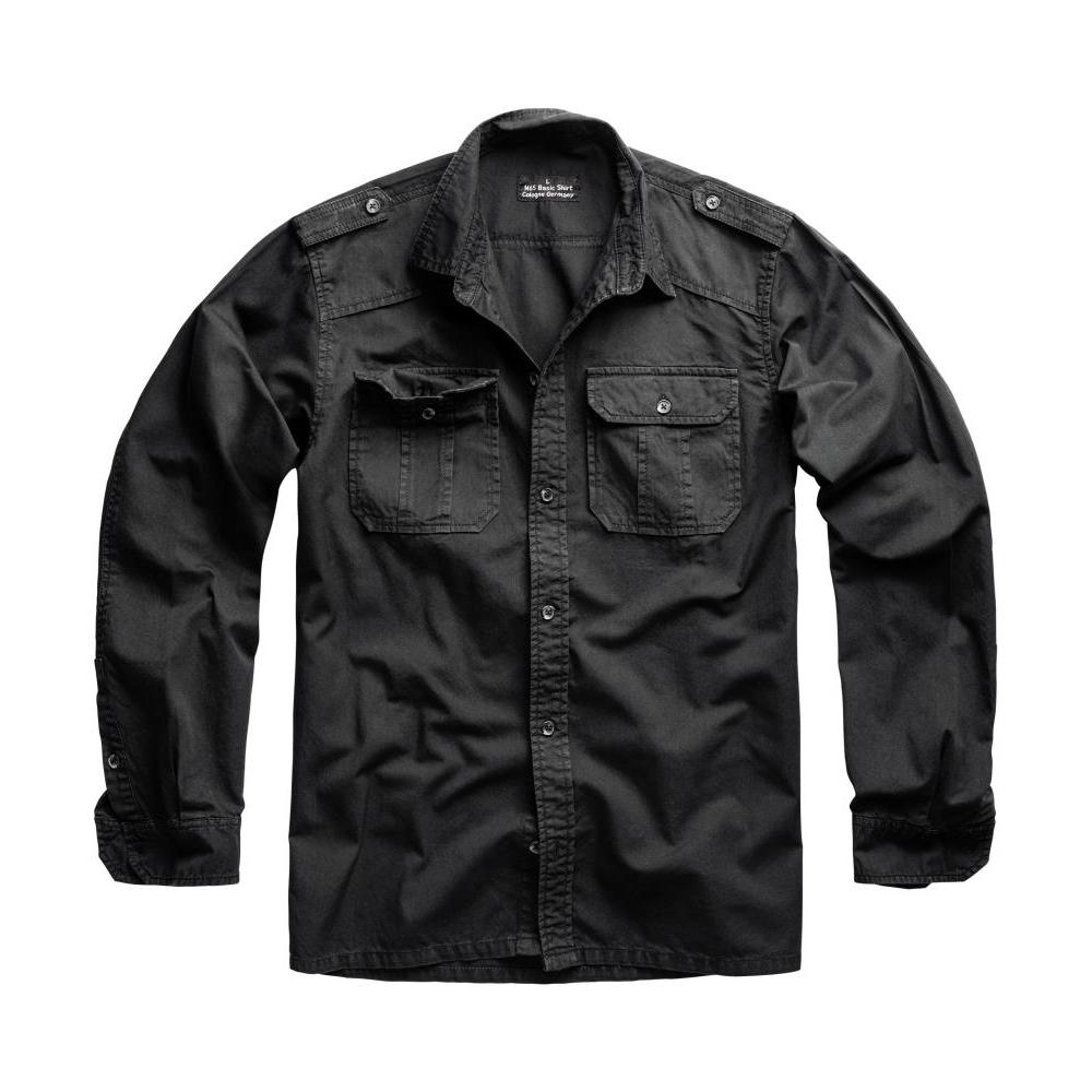 Košile M65 Basic Shirt s dlouhým rukávem - černá