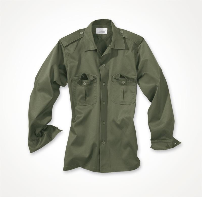 d4e1cb699052 Košeľa US s dlhým rukávom - olivová - Surplus-Shop