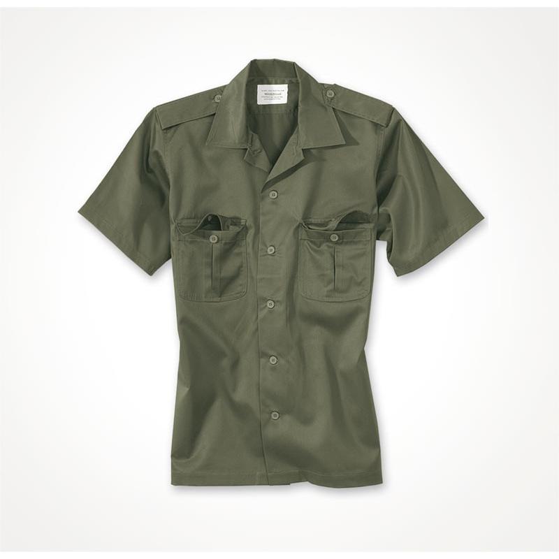 423dbbb309b3 Košeľa US s krátkym rukávom - olivová - Army a outdoor vybavenie
