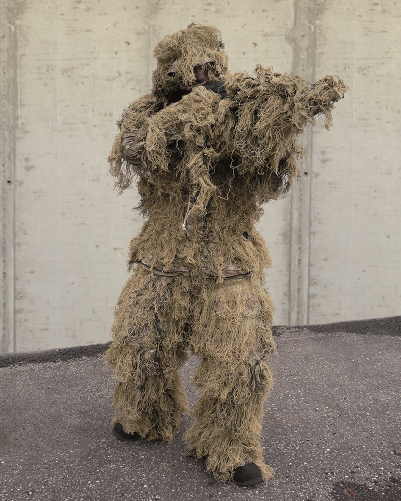 Maskovací oblek hejkal CamoSystems Anti Fire - desert