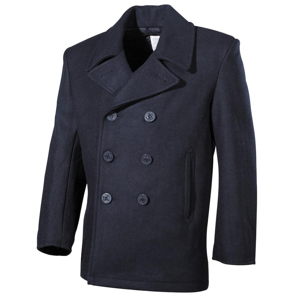 US Pea Coat MFH - modrý