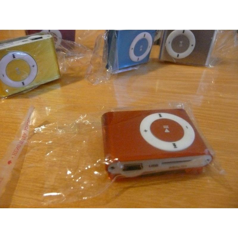 Mini MP3 přehrávač - oranžový