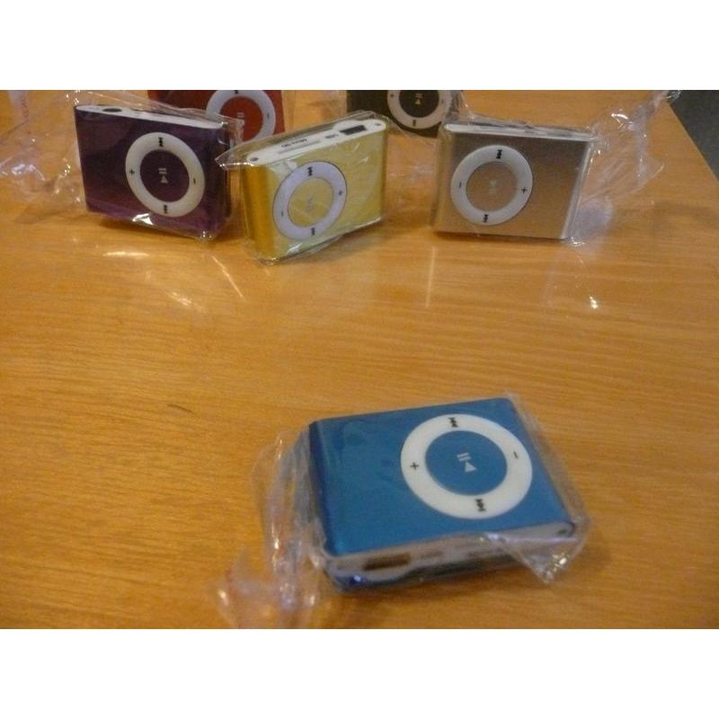 Mini MP3 přehrávač - modrý