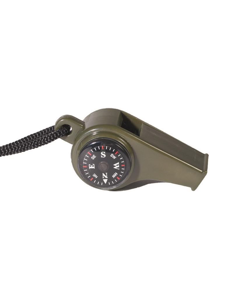 Píšťalka s kompasem - olivová