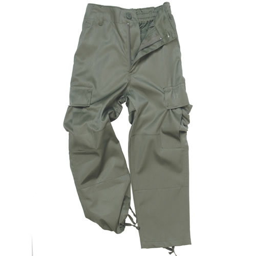 Kalhoty dětské US BDU - olivové