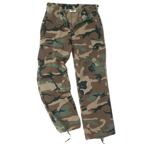 Kalhoty dámské US BDU - woodland