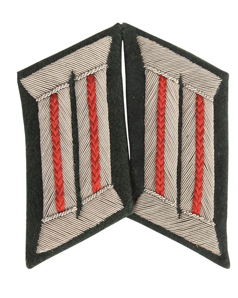 WH důstojnické límcové výložky Artillerie