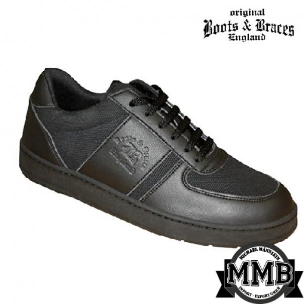 Kožené boty Boots & Braces Sneaker - černé