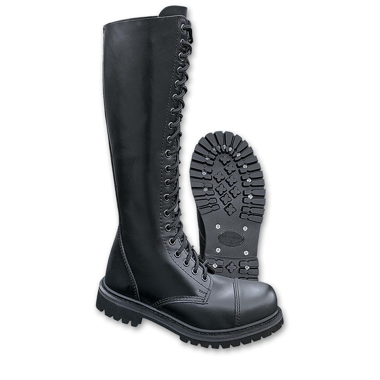 70618fac8bd Boty Brandit Phantom Boots 20-dírkové - černé - Army shop a outdoor ...