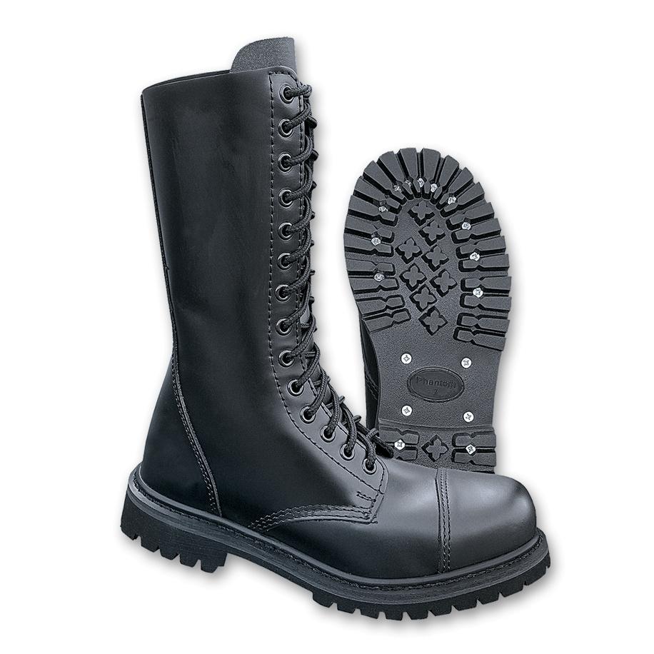 Boty Brandit Phantom Boots 14-dírkové - černé