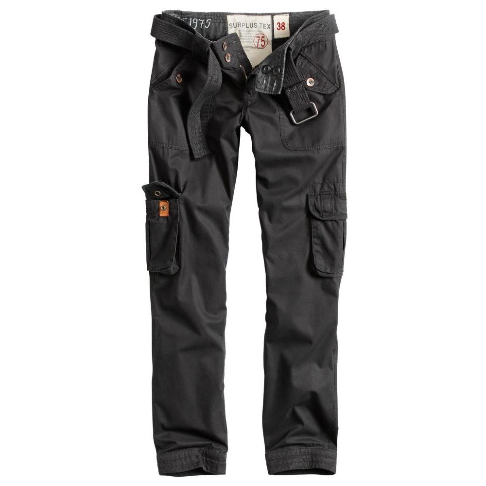 Kalhoty Ladies Premium Vintage Slimmy - černé