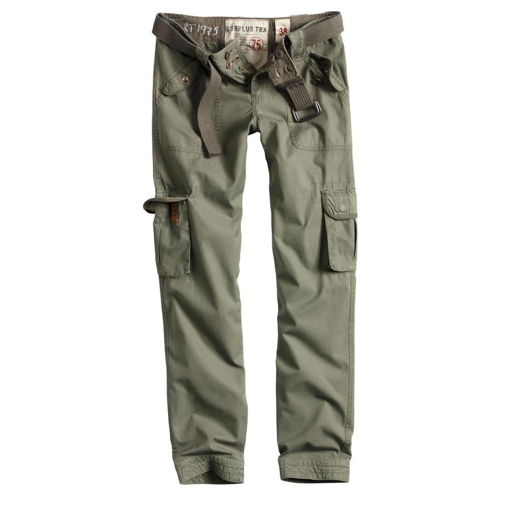 Kalhoty Ladies Premium Vintage Slimmy - olivové
