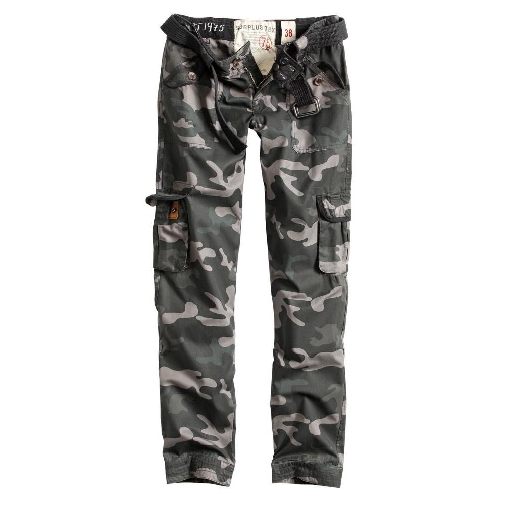 Kalhoty Ladies Premium Vintage Slimmy - blackcamo