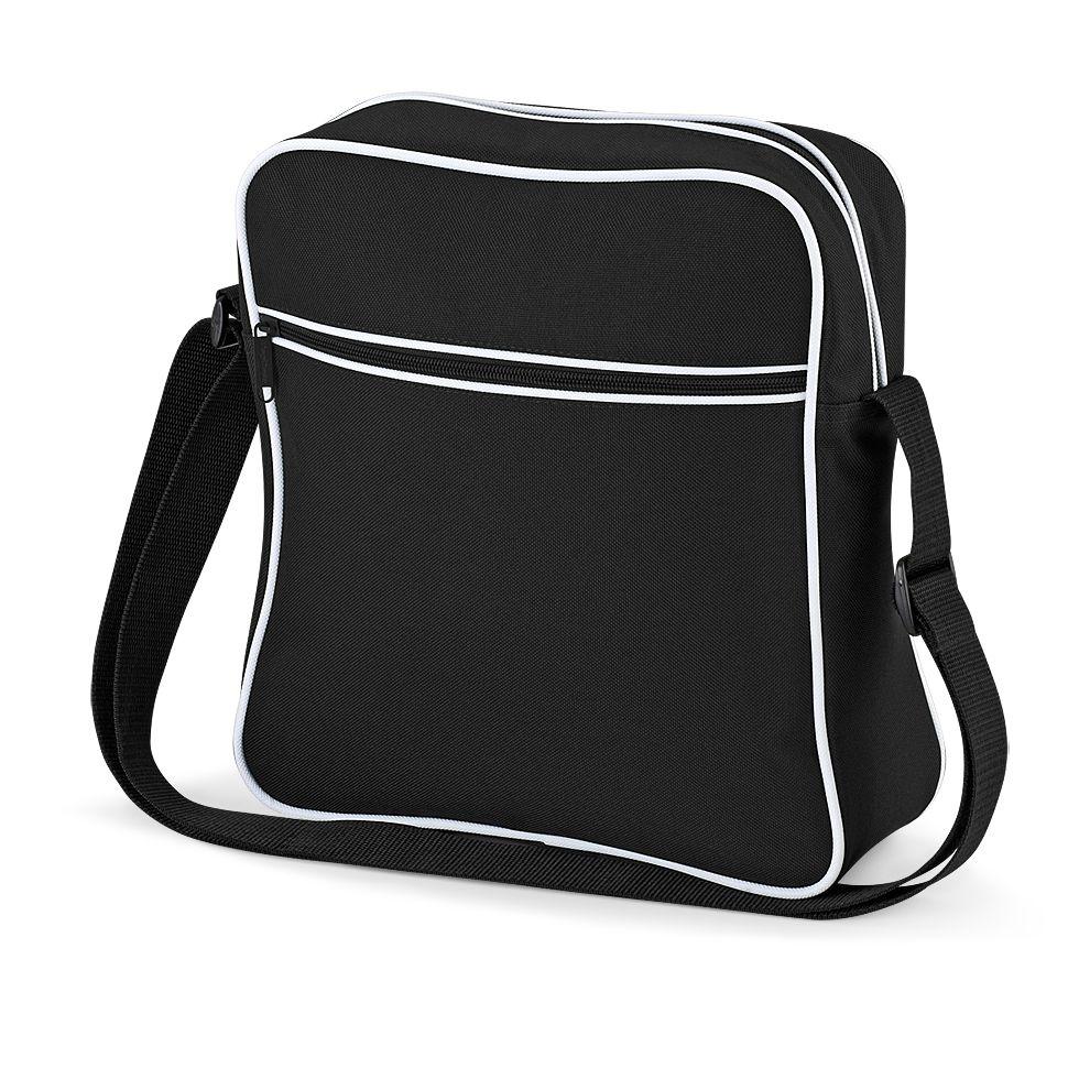 Cestovní taška Retro - černá-bílá