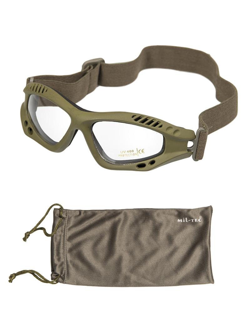Brýle Commando Air čiré - olivové