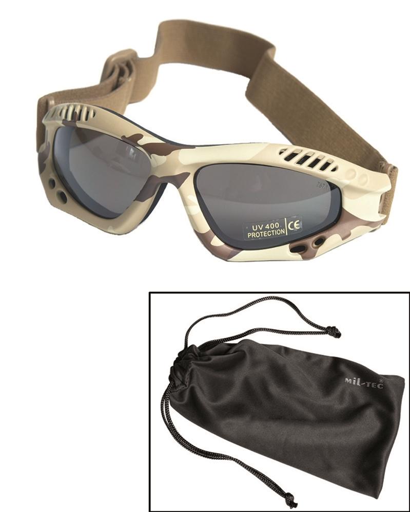 Brýle Commando Air kouřové - desert
