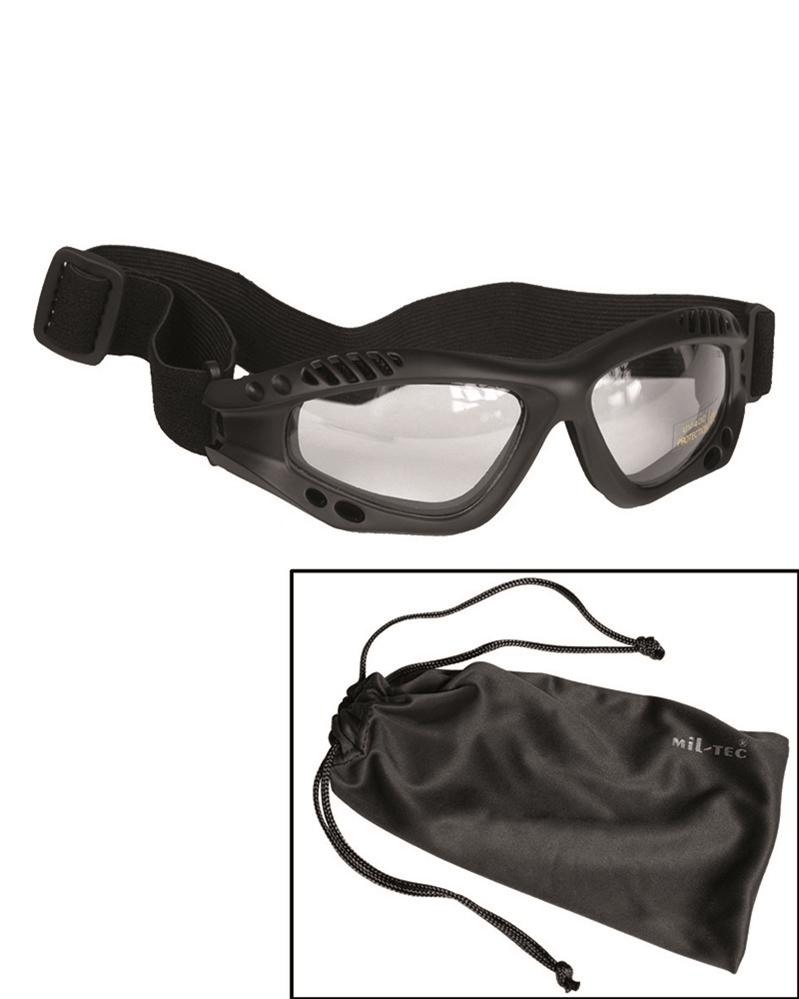 Brýle Commando Air čiré - černé