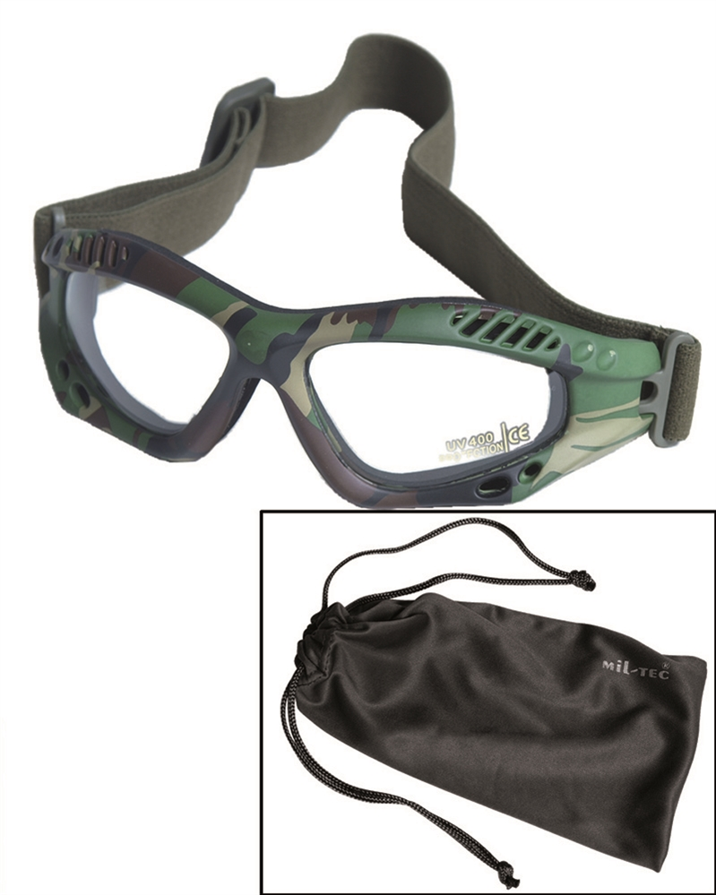 Brýle Commando Air čiré - woodland