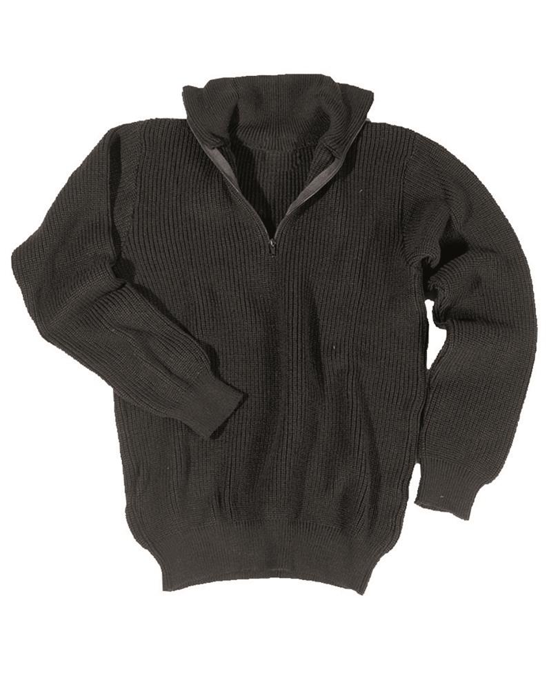 Svetr Troyer s límečkem - černý