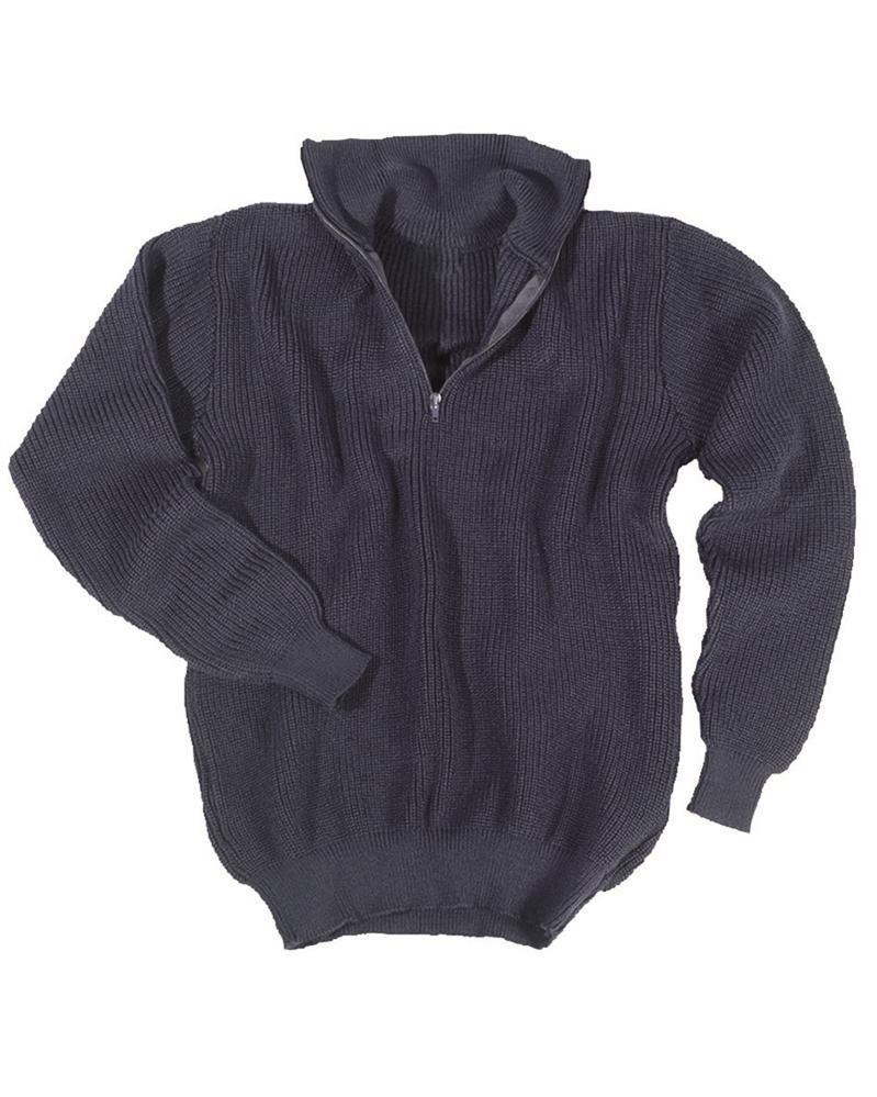 Svetr Troyer s límečkem - modrý