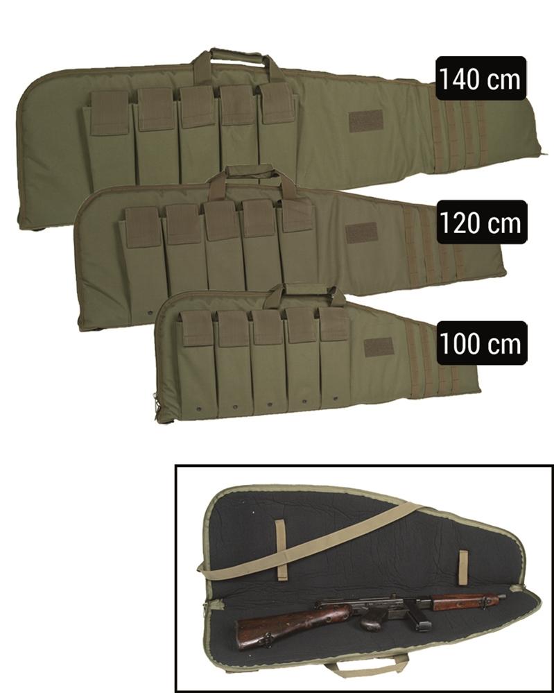 Pouzdro na pušku Modular s popruhem 100 cm - olivové