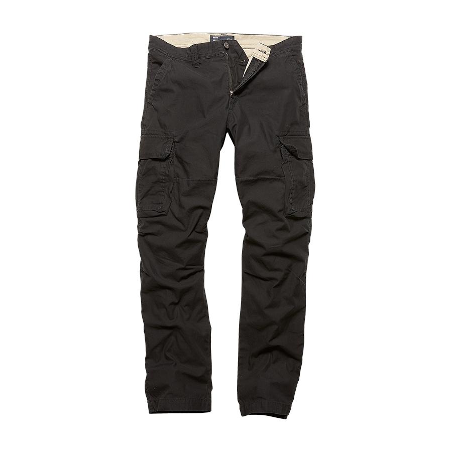 Kalhoty Vintage Industries Reef - černé