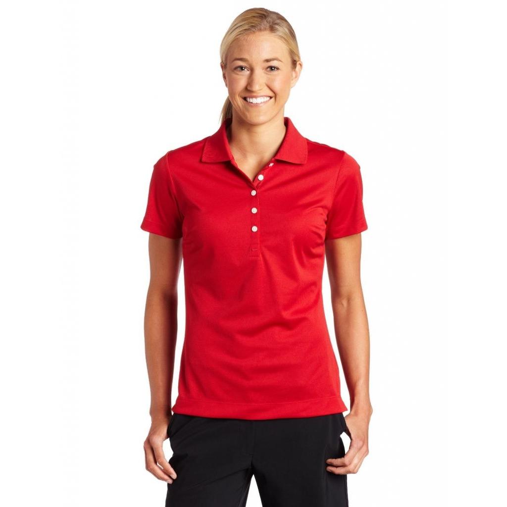 Dámská polokošile Nike Dri-Fit Woman - červená