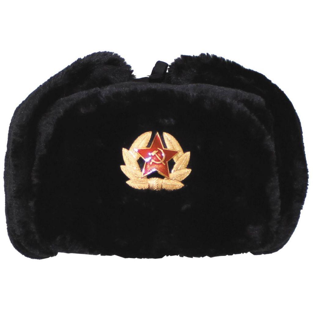 d4d34e9b6 Ruská baranice - čierna - Army a outdoor vybavenie