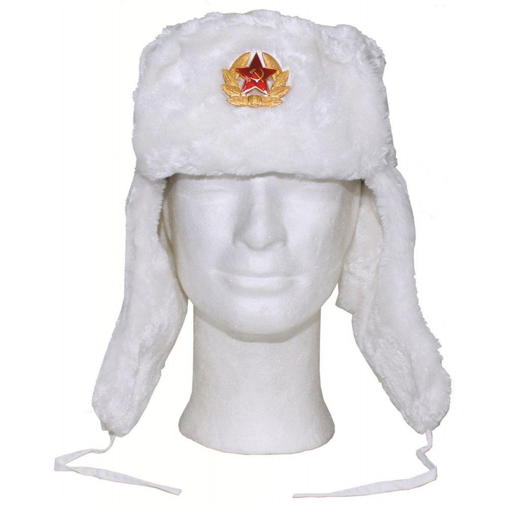 Ruská beranice - bílá