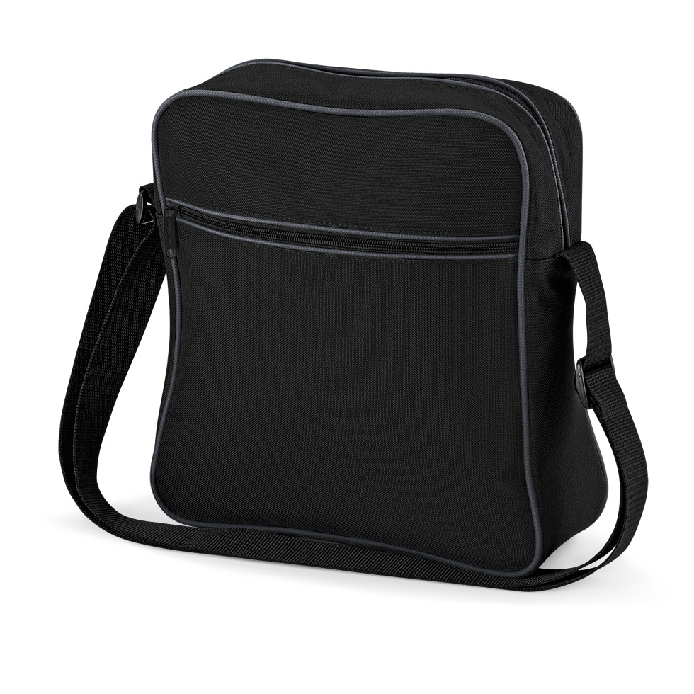 Cestovní taška Retro - černá-šedá
