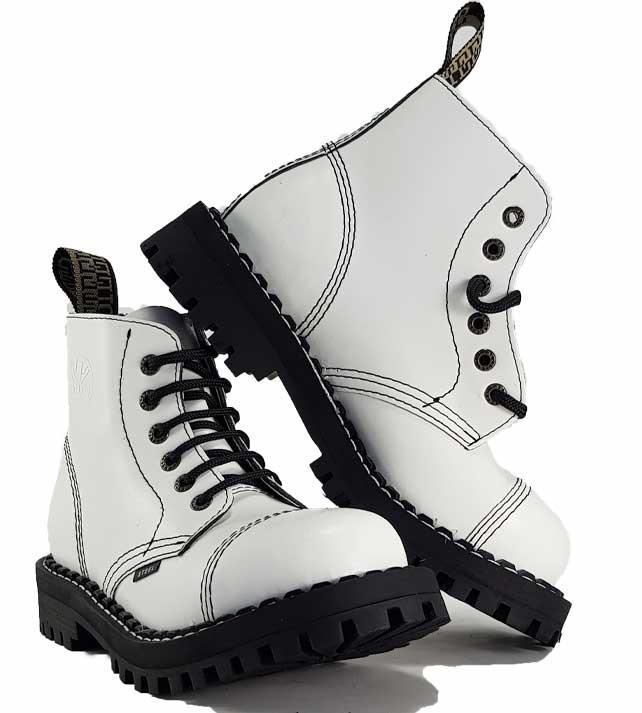 Topánky Steel 6-dierkové - biele - Steel obuv 38d14c9db1