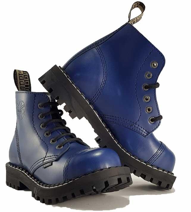 Topánky Steel 6-dierkové - modré - Army a outdoor vybavenie be8d01c680