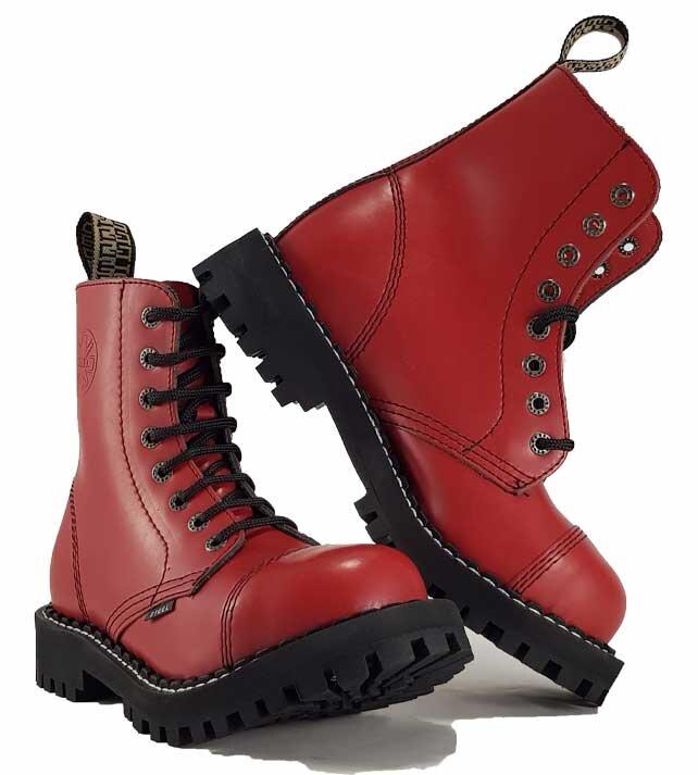 83a67556bb667 Topánky Steel 8-dierkové - červené - Army a outdoor vybavenie